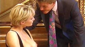 Short-haired blonde GF gets hate-fucked by her domineering partner right here